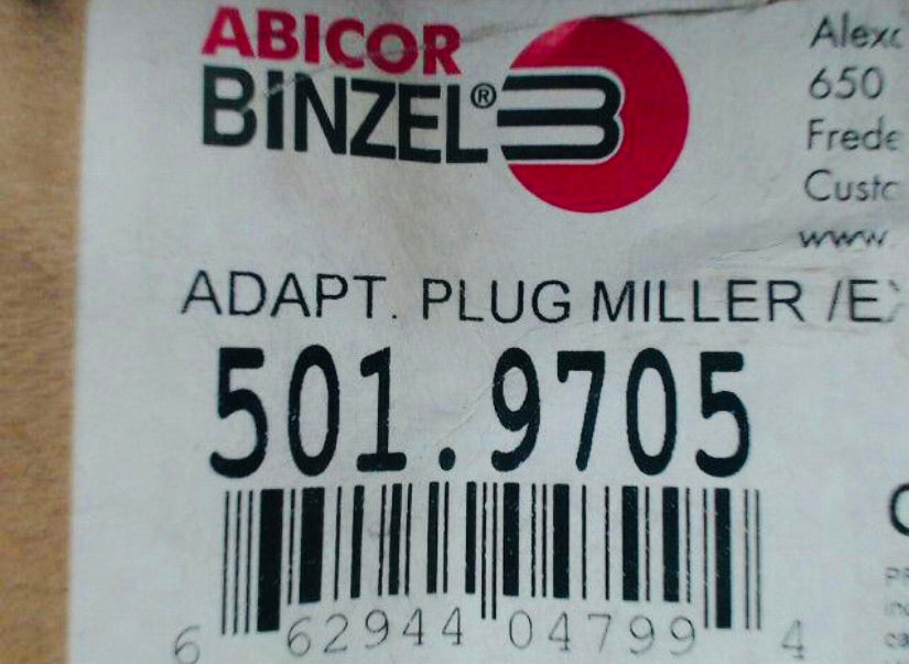 Abicor Binzel 501.9705 Adapt Plug Miller for AUT750 MIG Gun Body Cable