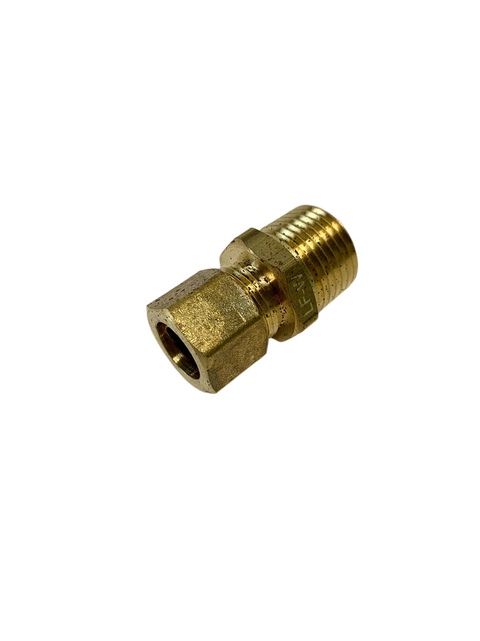 "Brass P-68-88-LF Tube to Male Straight Pipe 1/2"" x 1/2"" Adapter Fitting *Qty 10*"