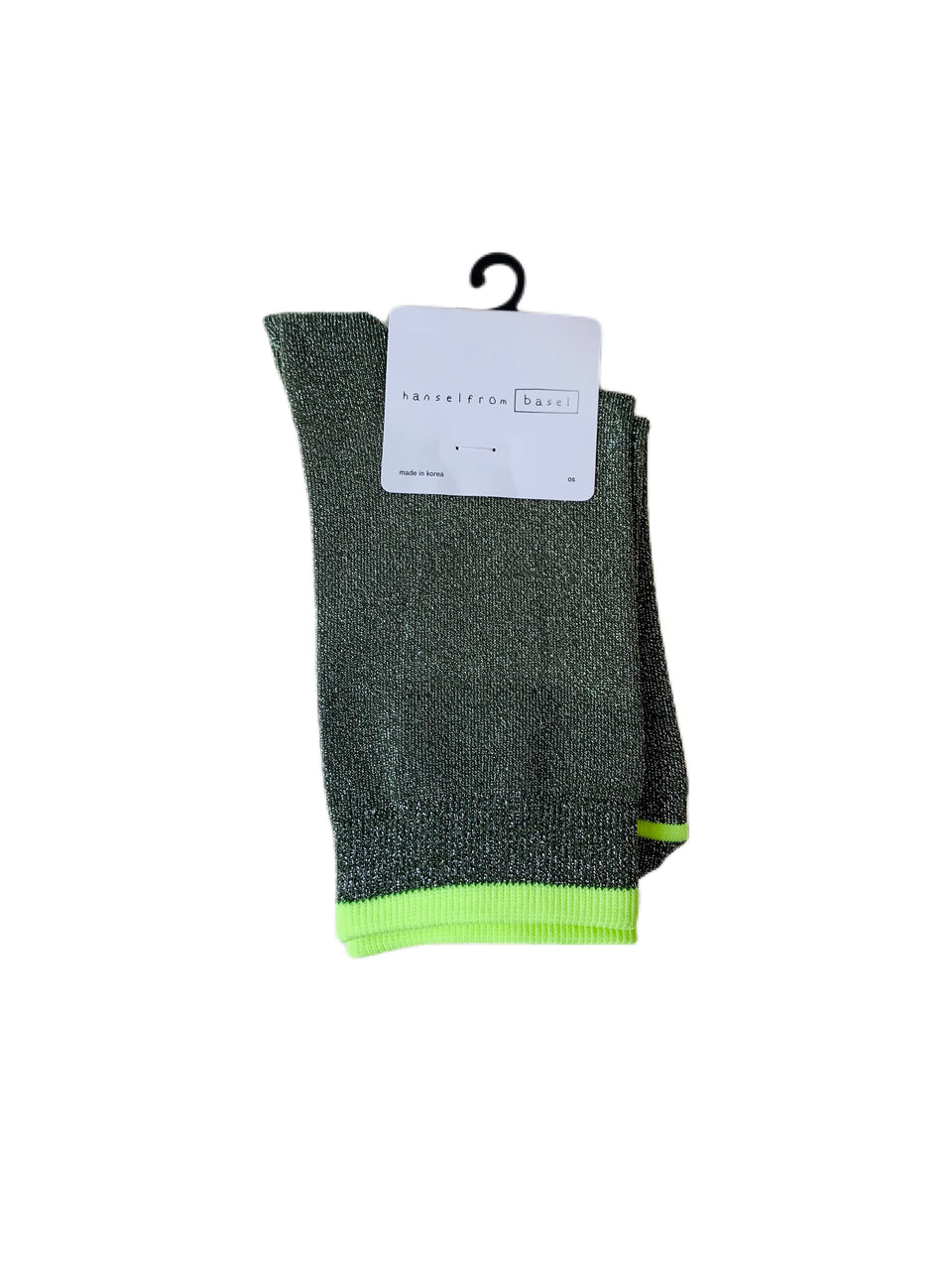 Hansel from Basel Shimmer Crew Stool Sock Green One Size Fits Most Pair Unisex