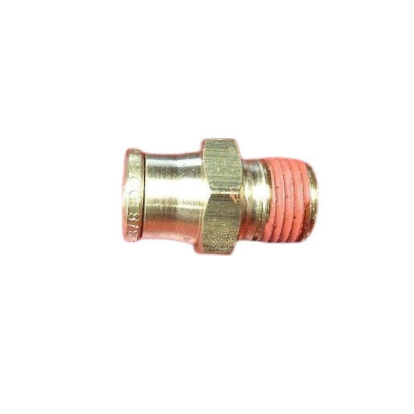 "Alkon AQ68-DOT-6X4 Brass Push In Male Connector 3/8"" Tube O.D. x 1/4"" NPT"