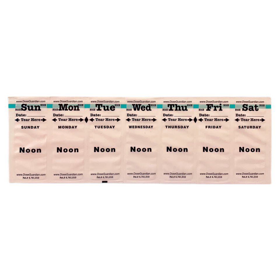 Dose Guardian Home Medication Noon Strips 13 Week Pack