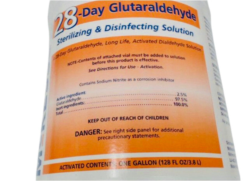 Mckesson 28 Day Glutaraldehyde 68-102800 High Level Disinfectant Solution 1 Gal.