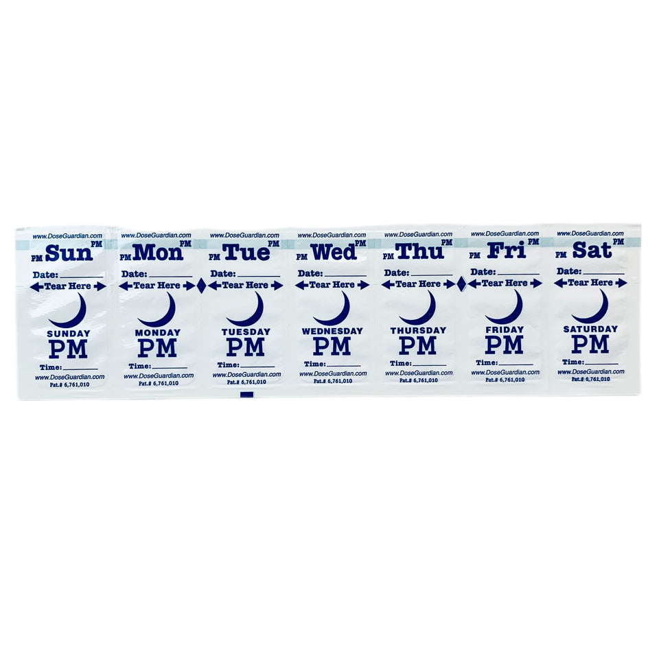 Dose Guardian Home Medication PM Strips 13 Week Pack