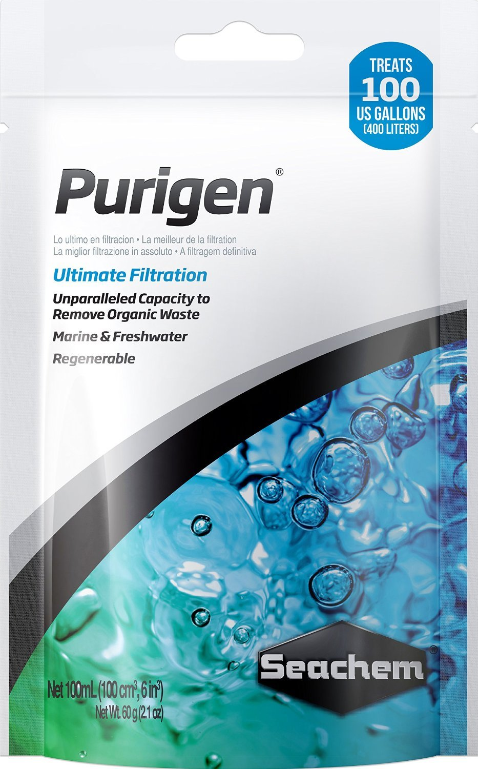 Seachem Purigen Ultimate Filtration 100 mL Bag Aquarium Fish Tank Filter Media