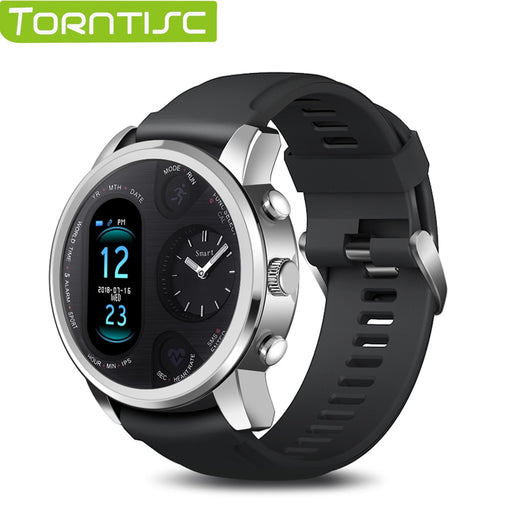 Torntisc Dual Display Smart Watch Men IP68 Waterproof Heart Rate Blood Pressure Message Push Smartwatch for Android and iOS