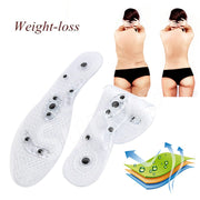 Magnetic Therapy Silicone Insoles Transparent Weight Loss Slimming Insole Massage Foot Care Shoe Pad Wholesale Dropshipping Sole