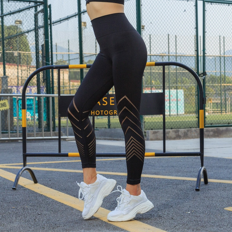New Fitness Leggings Women High Waist Push Up Pant Legging Women Leggins Mujer Seamless Slim Black Leggings Fitness Feminina - piranhagym