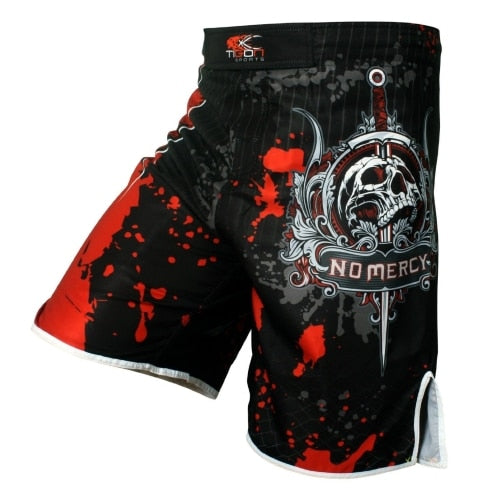 Men's boxing pants printing MMA Shorts Fight Grappling Short Polyester Kick Gel Boxing Muay Thai  Pants thai boxing shorts mma - piranhagym
