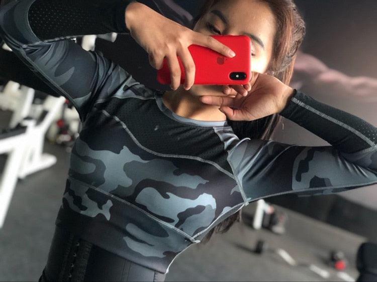 Camo Crop Top YDCX-36 - piranhagym
