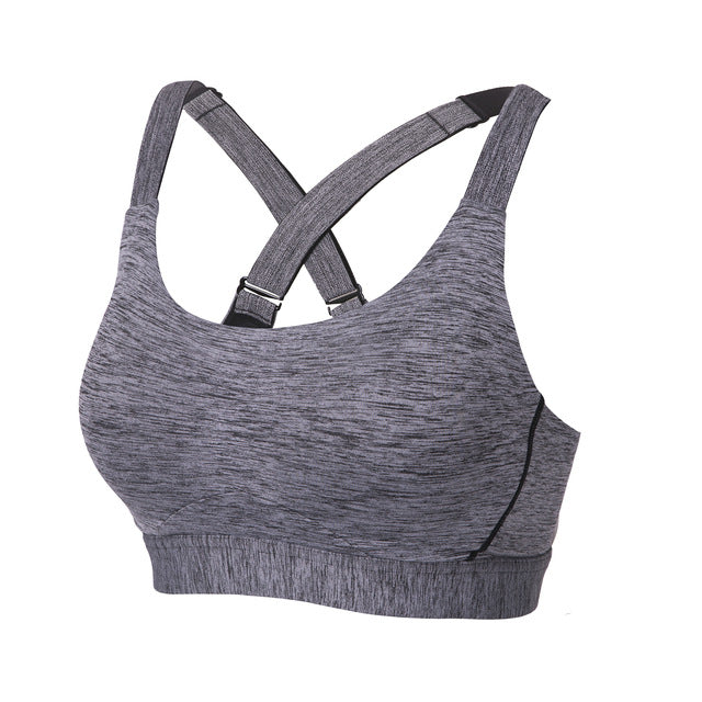 Women's High Impact Molded Cup Full Coverage Underwire Workout Sports Bra - piranhagym