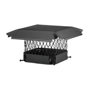 Draft King Single Flue Chimney Cap | Black Galvanized Steel