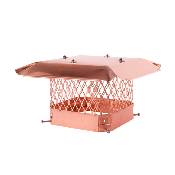 Draft King Single Flue Chimney Cap | Copper