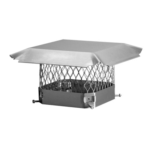 Draft King Single Flue Chimney Cap | Stainless Steel