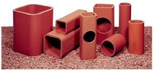 "4.5""x8.5"" Logan Clay Flue Liners - 2' Lengths"