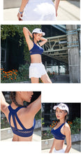 Load image into Gallery viewer, Strappy Sports Bra Fitness Medium Support Super Cute 4 Colors