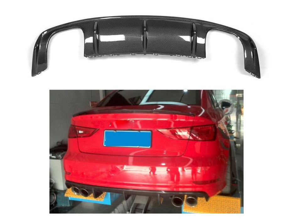 047 - Audi S3 Sedan Carbon Fibre Lightweight Rear Diffuser (2013-2016) - Diversion Stores Car Parts And Modificaions