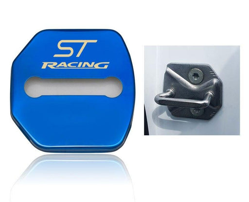 214 - Ford ST Racing 4x Car Lock Covers For Fiesta / Focus / Kuga / Ecosport / Ka - Diversion Stores Car Parts And Modificaions