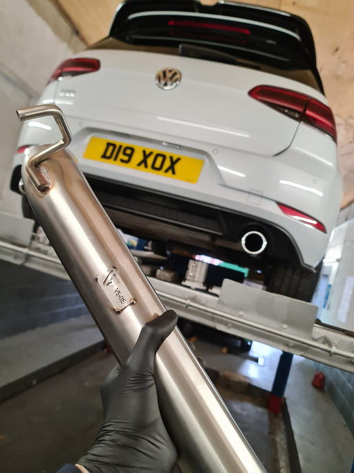 VAGSport VW Golf Mk7 GTI/Clubsport/S Resonator Delete Pipe Kit - Diversion Stores Car Parts And Modificaions