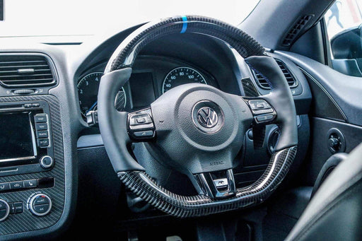 Volkswagen Polo MK5 6R GTI / R-line Carbon Fibre Steering Wheel (CUSTOM / 2009 - 2014 Models)