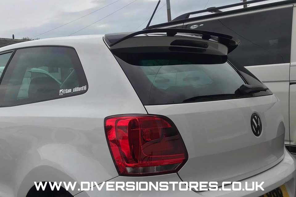 Volkswagen Polo WRC Style Roof Spoiler (2009-2018) - Diversion Stores Car Parts And Modificaions