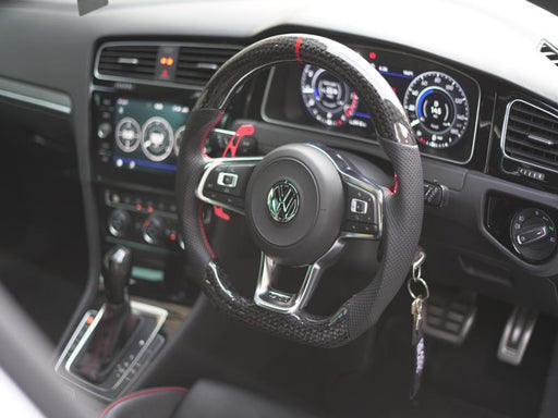 Volkswagen Golf MK7 / MK7.5 GTI / GTD / R-Line / R Carbon Fibre Steering Wheel (CUSTOM / 2013 - 2020 Models)