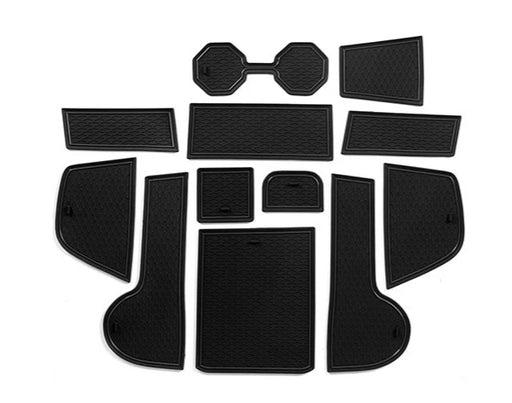 253 - Volkswagen Polo AW 10Pcs Rubber Anti-Slip Interior Storage Mats (2018 - UP) - Diversion Stores Car Parts And Modificaions