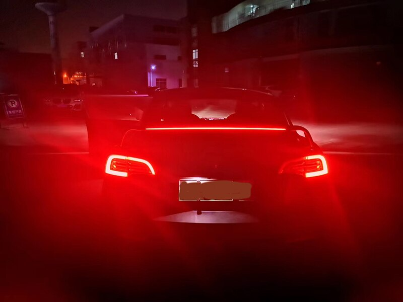 Auto Led breathing Tail Wing Rear Spoiler Trunk Wings Car ABS Tail Wing Decoration Car-Styling for Tesla Model 3 2017 - 2019 (Wing Including Brake Light) - Diversion Stores Car Parts And Modificaions