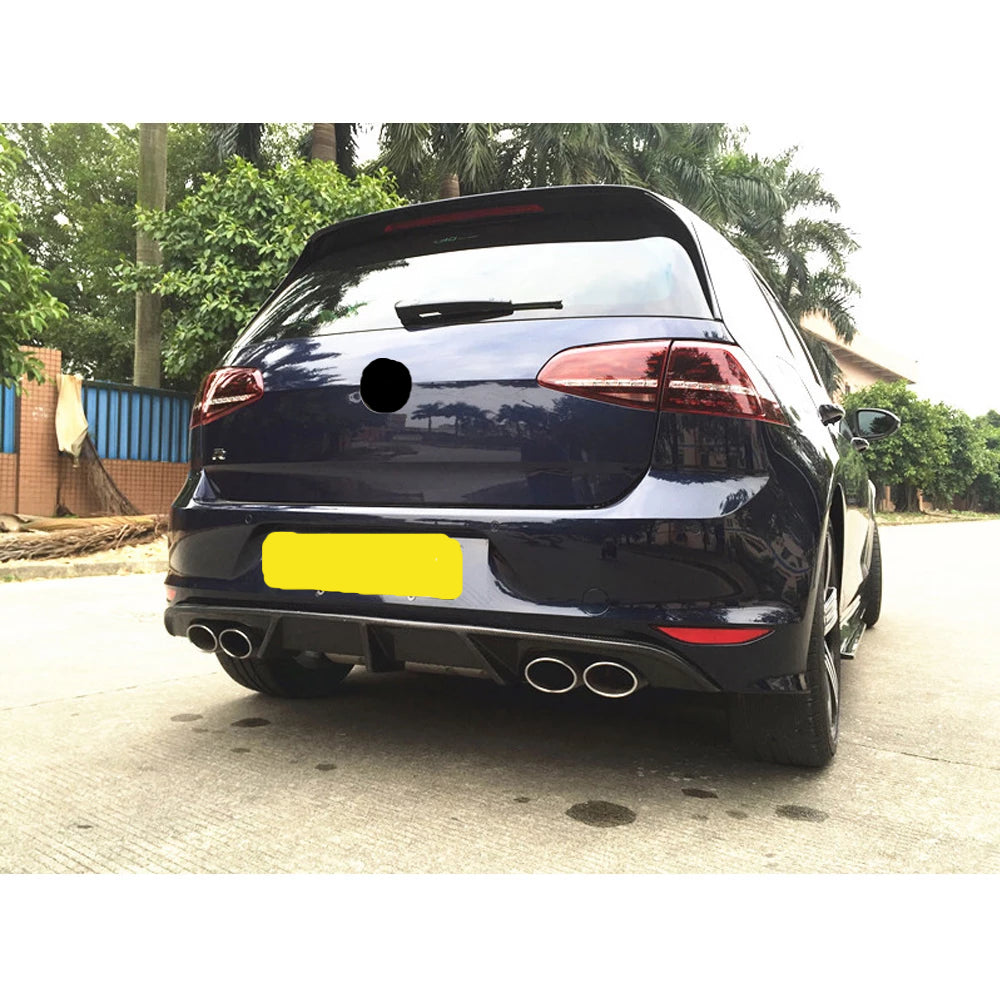 248 - Volkswagen Golf MK7 R Carbon Fiber Rear Diffuser (2013-2016) - Diversion Stores Car Parts And Modificaions
