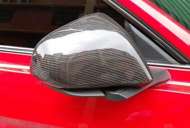 162 - Ford Mustang Carbon Fibre Wing Mirror Add On Covers (2008 - UP) American & Euro Models - Diversion Stores Car Parts And Modificaions