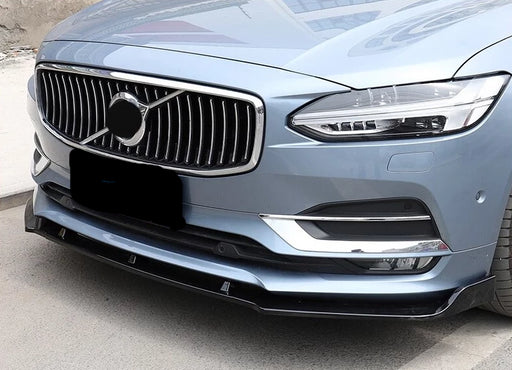 172 Volvo S90 Gloss Black Front Splitter (2016 - 2019) (Black Gloss) - Diversion Stores Car Parts And Modificaions