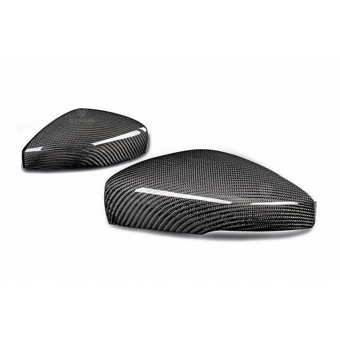 Volkswagen VW Polo Genuine Carbon Fibre Replacement Wing Mirror Covers MK5 6C / 6R (2009-2017 Models) - Diversion Stores Car Parts And Modificaions