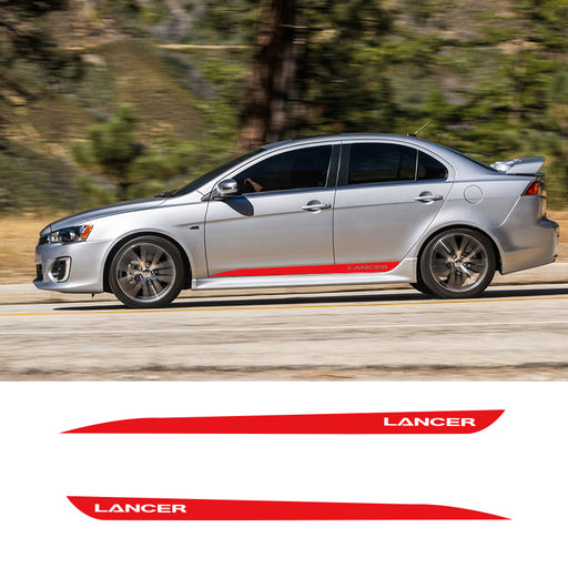 Mitsubishi Lancer Evolution 'Lancer' Side Decals (2 Pieces) - Diversion Stores Car Parts And Modificaions