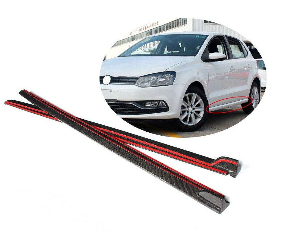 115 - Volkswagen Polo Carbon Fibre Side Skirts - Base Model 5-door (2009-1017 Models) - Diversion Stores Car Parts And Modificaions