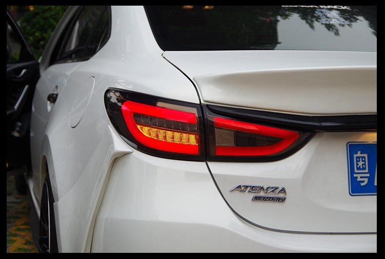 081 - Mazda 6 LED Tail Light Pair With LED Indicators (2013-2016 Models) - Diversion Stores Car Parts And Modificaions