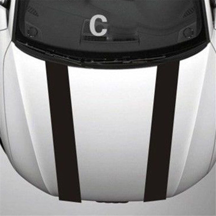 Universal Hood / Bonnet Stripe Decal (4 STYLES) - Diversion Stores Car Parts And Modificaions