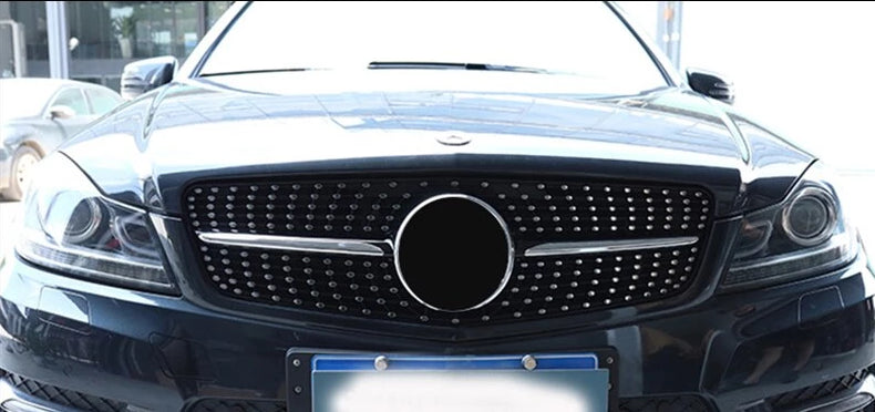 112 - Mercedes Benz C-class Diamond Style Front Grille (2008 - 2014) - Diversion Stores Car Parts And Modificaions