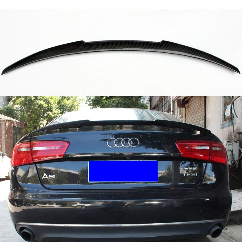 023 - C7 Audi A6/S6 4-Door Carbon Fibre Sedan Boot Spoiler (2012-UP) - Diversion Stores Car Parts And Modificaions