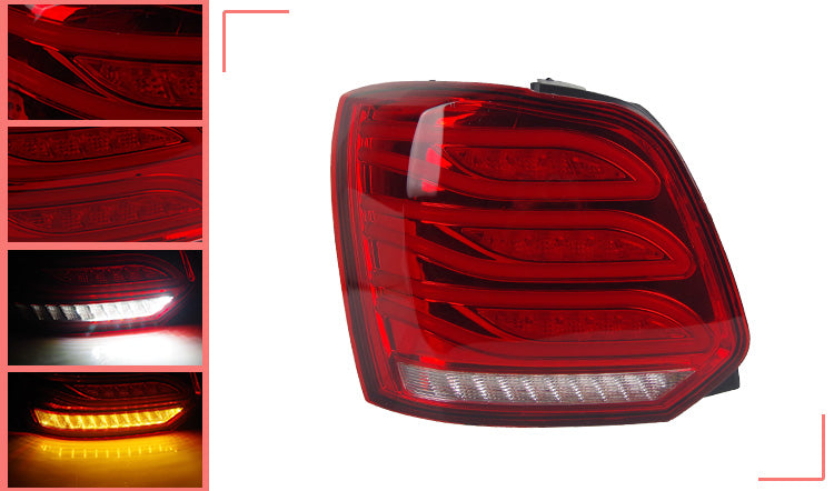 048 - Volkswagen Polo LED Tail Lights With Dynamic Turn Signal (2009-2018 Models) - Diversion Stores Car Parts And Modificaions