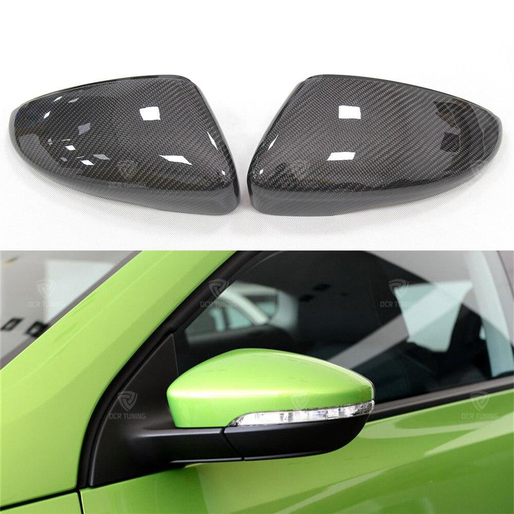 149 - Volkswagen Scirocco / Beetle / Jetta Carbon Fibre Wing Mirror Replacement Caps (2009+ Models) - Diversion Stores Car Parts And Modificaions