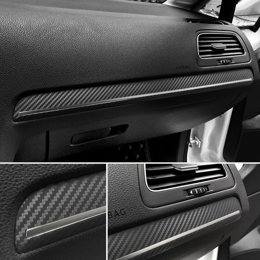 244 - Volkswagen Golf MK7/7.5 Carbon Fibre Look Dashboard Skin (2013 - 2019) LHD - Diversion Stores Car Parts And Modificaions