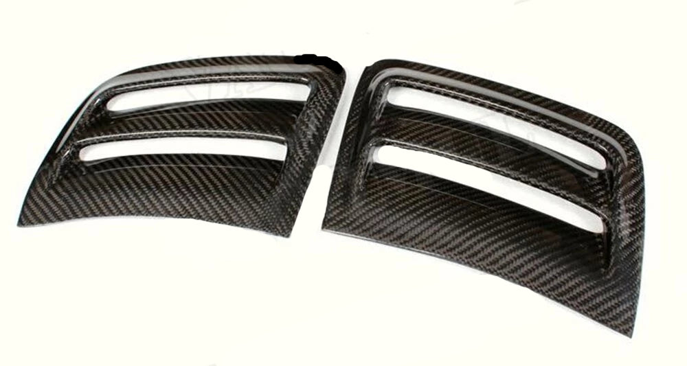 242 - Mercedes C63 Carbon Fibre Or Fibre Glass Bumper Vent Covers (2008 - 2011 Models) - Diversion Stores Car Parts And Modificaions