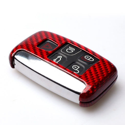 Carbon Fibre Key Cover For Jaguar / Land Rover / Range Rover Vehicles (Black Or Red) - Diversion Stores Car Parts And Modificaions