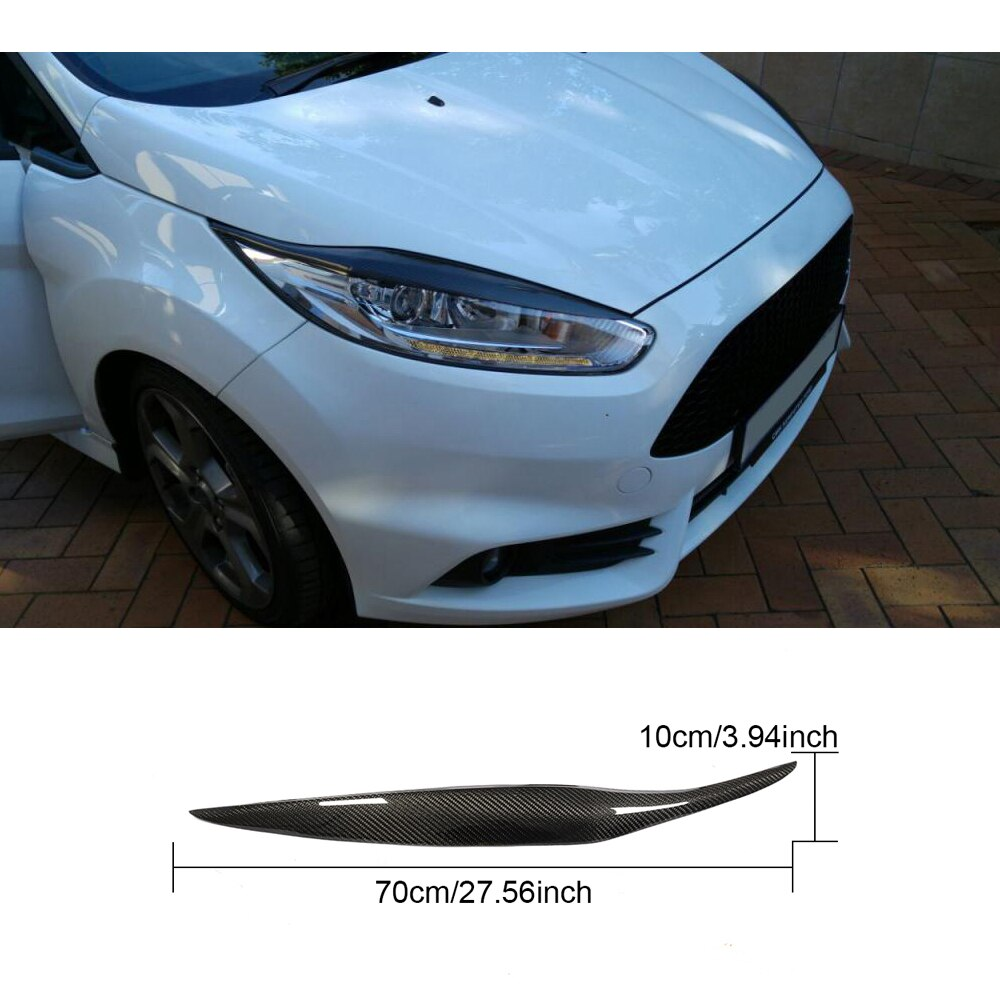 050 - Ford Fiesta Carbon Fibre Headlight Eyebrows (2012-2017 Models) - Diversion Stores Car Parts And Modificaions