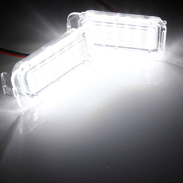 Pair Of White LED Number Plate Light Units For Ford Focus / Fiesta / Mondeo / Kuga / Galaxy / S-max / C Max - Diversion Stores Car Parts And Modificaions