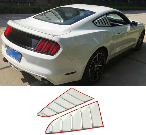 107 - Ford Mustang Rear Quarter Shark Gill Window Covers (2015 - 2017 Models) - Diversion Stores Car Parts And Modificaions