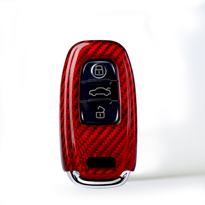 Audi Carbon Fibre Key Cover (RED Or BLACK / Multiple Models - See Images) - Diversion Stores Car Parts And Modificaions
