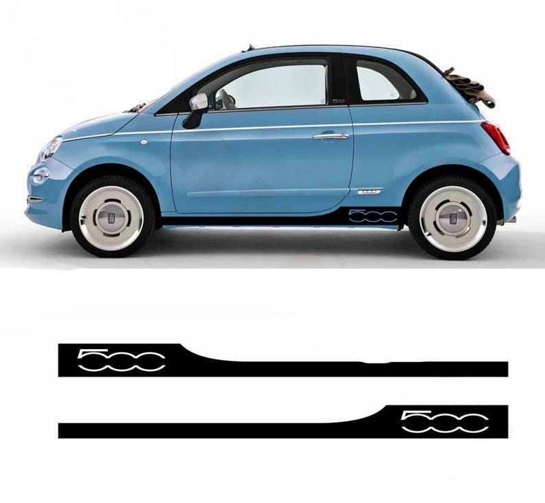 2X Side Decals For The Fiat 500 With Logo - Diversion Stores Car Parts And Modificaions