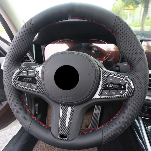BMW G Series Carbon Fibre Look Steering Wheel Trim Cover