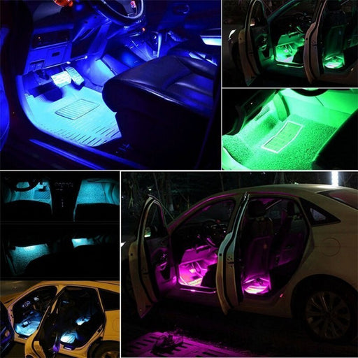262 - Diversion 16 Colour RGB Remote controlled footwell lights (12V) - Diversion Stores Car Parts And Modificaions