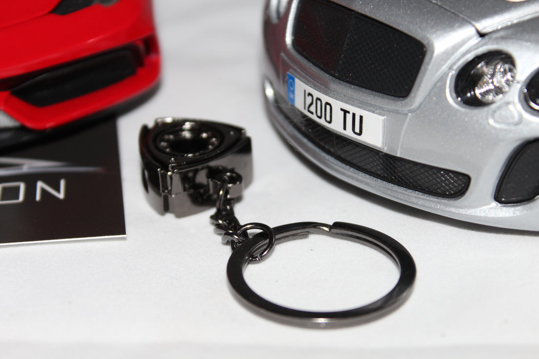 Rotary Engine Keyring Accessory (Black Chrome) - Diversion Stores Car Parts And Modificaions